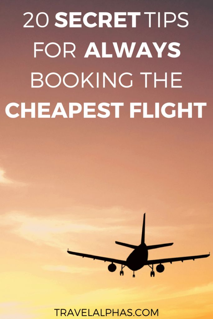 Going on a trip soon and wondering how to find the cheapest flight? This post includes 20 secret tips that'll help you find a great flight for a cheap flight! Flight hacks | Cheap flights | Cheapest flights | Cheap airline tickets | Cheap flight website | How to find cheap flights | How to book cheap flights | How to get cheaper flights | Travel hacks | Find affordable flights | How to book flights