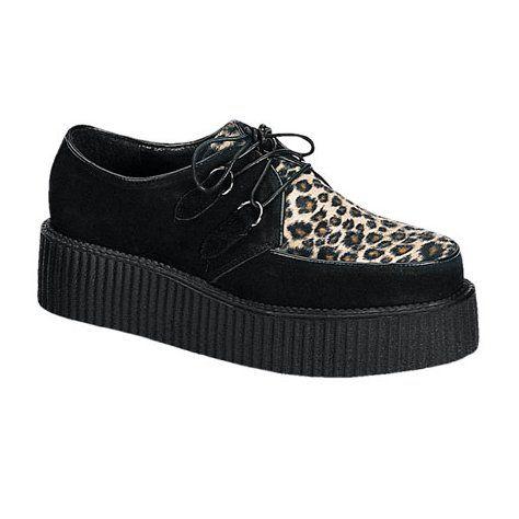 Shoes: CREEPER 2 Inch Men's Black Shoes Creeper Platform Shoe Retro Gothic  Rockabilly