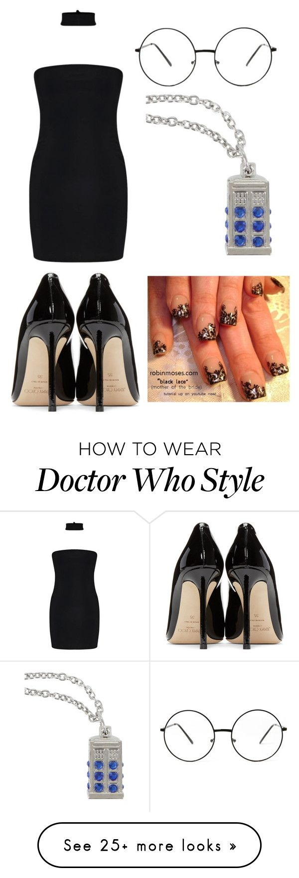 """Untitled #1762"" by fallen-angel-007 on Polyvore featuring Jimmy Choo and Hot Topic"