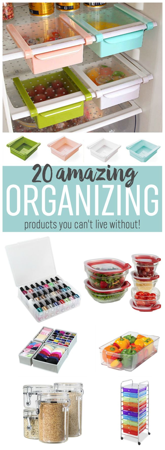 Get your home organized this year with these 20 amazing organizing products you can't live without. They cover all areas of your home and life!