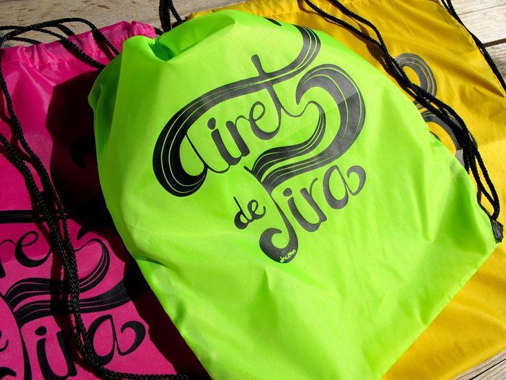 "Diseño tipográfico para las bolsas ""Airet de Fira"""