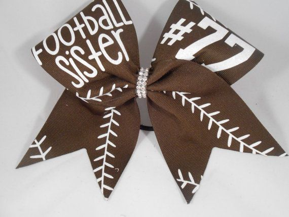 Cheer Bow Football Sister CUSTOM your   on by BlingItOnCheerBowz