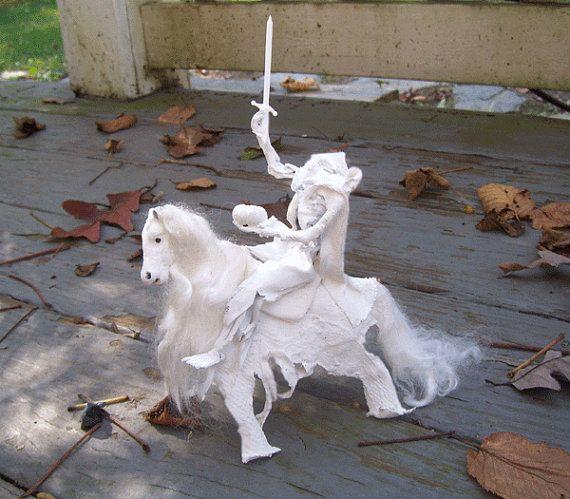 Dollhouse Miniature GHOST RIDER HORSE Headless Horseman ...