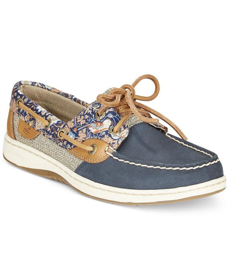 Sperry Women's Bluefish Linen Oat Boat Shoes