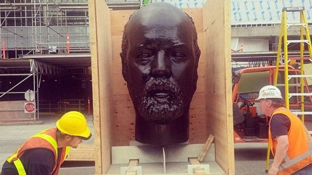 Art or eyesore? Douglas Coupland invites Vancouver to cover his face in gum
