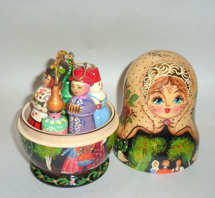 230 best Hand painted Russian Christmas Ornaments images ...