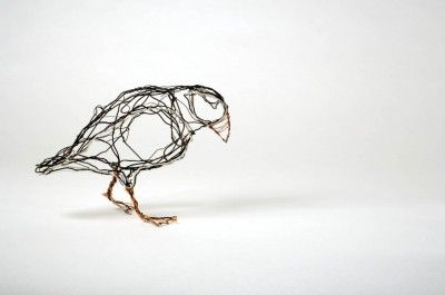 Celia Smith does lovely work with recycled wire.
