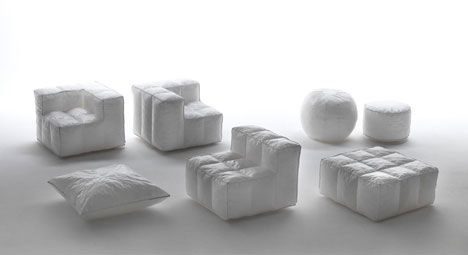 Milan Furniture Fair Day 2: Glowing Inflatable Furniture Made of Recycled Materials : TreeHugger
