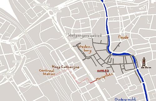 Vergaderzaal vlakbij Centraal Station Utrecht en Hoog Catharijne. www.aanleg.eu