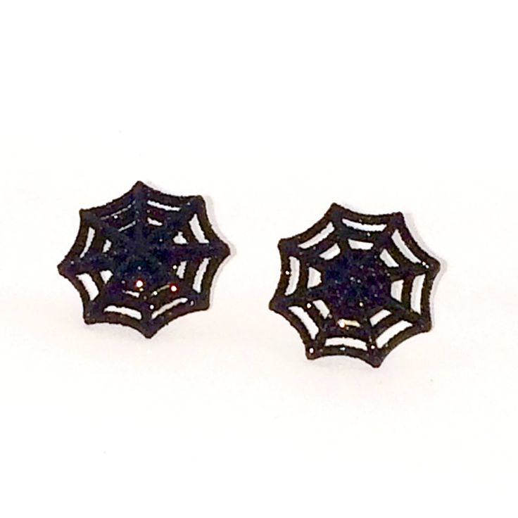 Spider Web Earrings Gold Plated Stud Earrings - Halloween jewelry by AnisasClayCreations on Etsy https://www.etsy.com/ca/listing/561822191/spider-web-earrings-gold-plated-stud
