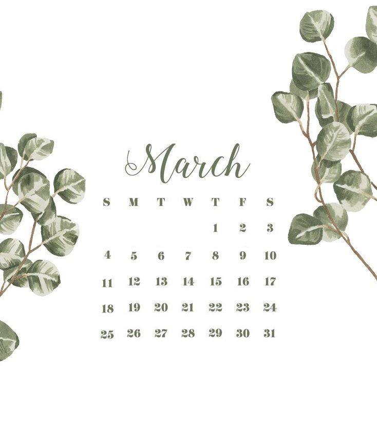 March 2018 Iphone Calendar Wallpaper Calendar Designs