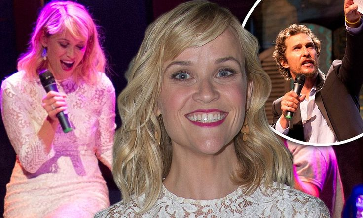 Reese Witherspoon looks great at Matthew McConaughey's charity auction.  Reese Witherspoon splashes $27k to perform with country legend George Strait at Matthew McConaughey's charity auction