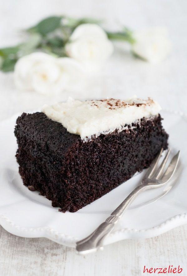 Guinness-Kuchen nach diesem Rezept hat die Konsistenz eines Brownies.