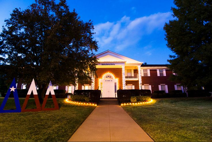 "Stephen F. Austin Tri Delta house, or as the sisters here call it the ""Delta Dome"""