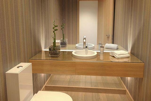 Baño revestimiento vinílico_SUELOS Y PAREDES : Baños de estilo asiático de SUELOS Y PAREDES SIN OBRAS