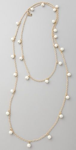 Juliet & Company pearl wrap necklace from shopbop.com's wedding boutique. Accessory for a Regency-styled wedding.