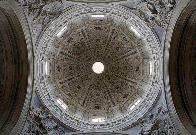 Pierre de Cortone. Eglise Saints-Luc-et-Martine, Rome, 1635-1666. Coupole