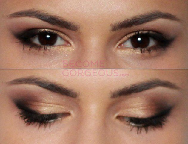 Selena Gomez Cat Eye Makeup Finished