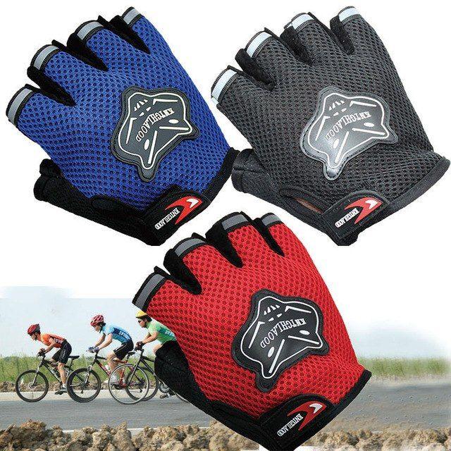 Kids Gloves Cycling Bike Half Finger Sports Outdoor for Junior Mountain Bike
