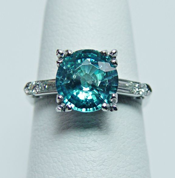 Maybe the prettiest ring I have seen with my birthstone, Blue Zircon for Dec.