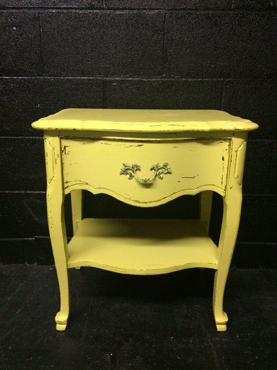 Chippy Yellow Nightstand