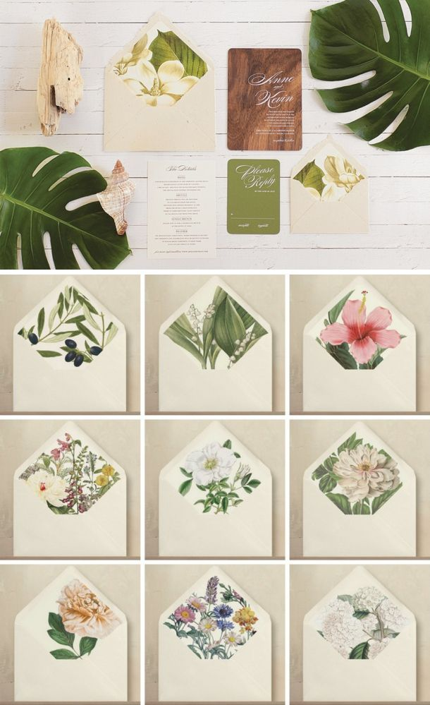 Botanical wedding invitations from Oak & Orchid | SouthBound Bride | http://www.southboundbride.com/supplier-spotlight-oak-orchid