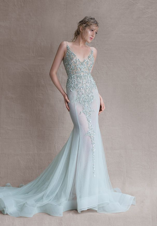 Mint Wedding Dress From Paolo Sebastian SS Couture Wow I LOVE THIS Would Like It Lined But A Who Knew