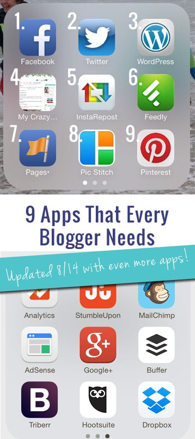The 9 Must-Have Apps for Bloggers(updated to include 9 MORE apps!) - My Crazy Good Life