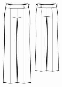 slightly Flared wide-leg pants