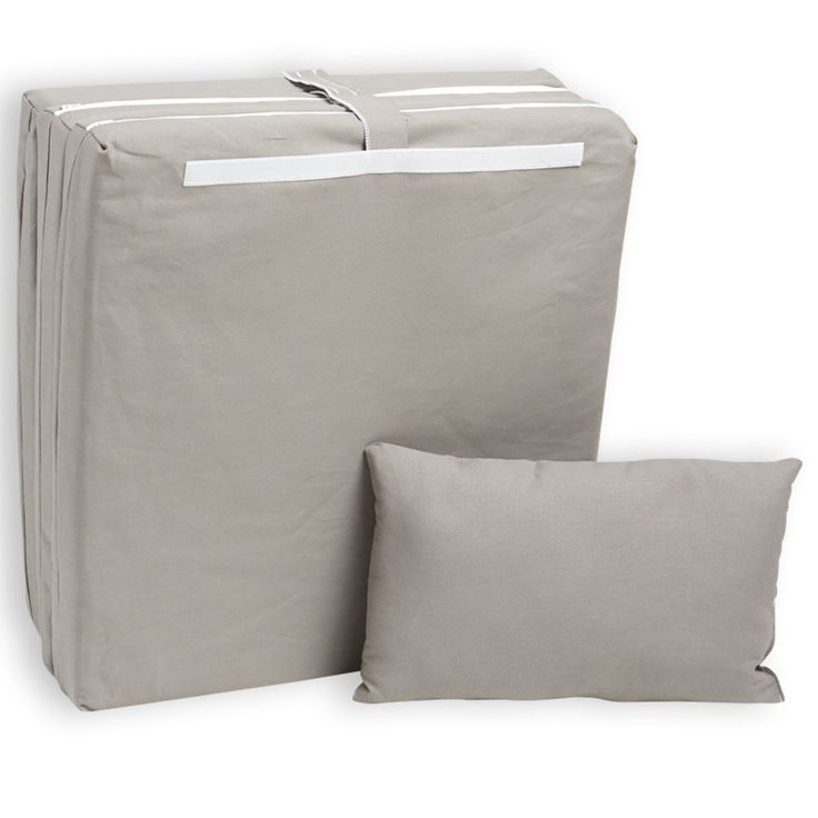 Hermell Tri Fold Bed Dove Gray Canvas 3 X 25 75 In