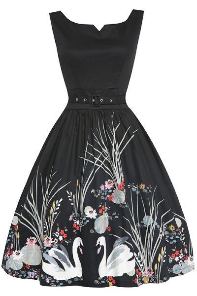 Lindy Bop Delta Swan Dress