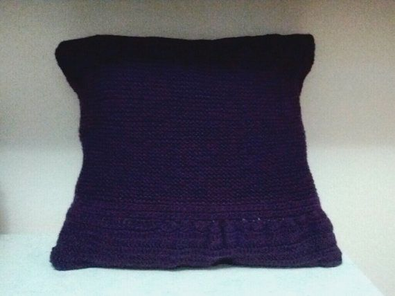 Ruffles/boxie knitted cushion cover by Girlscode on Etsy, $40.35