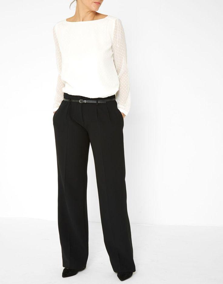 Pantalon large  uni noir