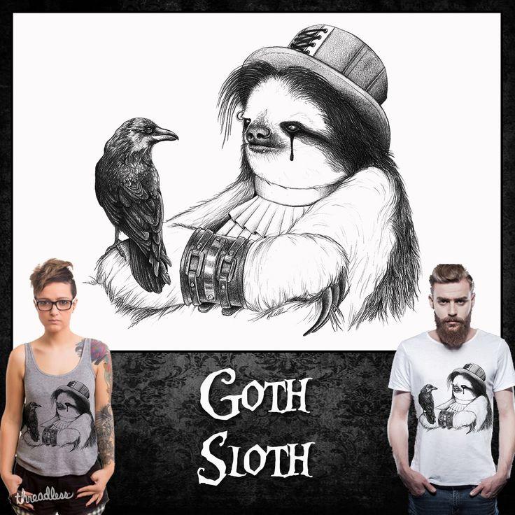 Goth Sloth on Threadless