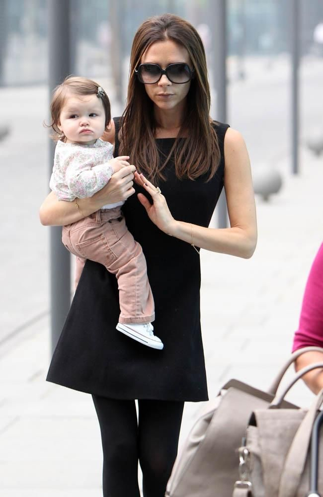 Baby Beckham, Harper, is the cutest and the best-dressed baby we know. Will she take after her mom or dad's good looks?