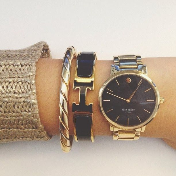 kate spade watch / arm party / bkcsquared