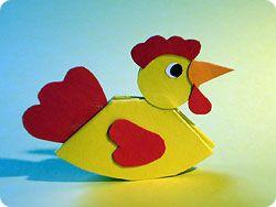 Hühner basteln aus Papier