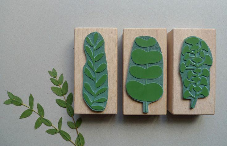 KARAMELO Botanisches Stempel-Set: Es grünt so grün