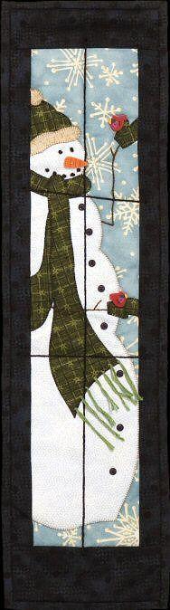 Leftie Snowman Quilt Kit & Pattern