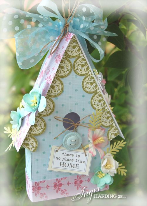 love the bird house card! wow! great idea!