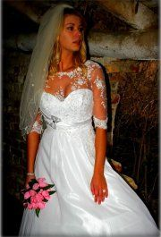 Ariana csipke esküvői ruha