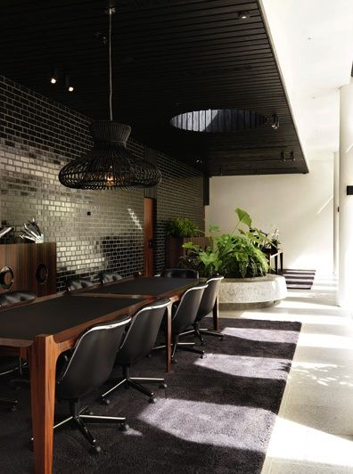 Architecture. Merivale Offices  August 4, 2011    Within the multi-layered entertainment precinct of The Ivy in Sydney is the corporate heart of Merivale, which delivers a mid-century aesthetic on a more domestic scale.  Photographer: Trevor Mein  Author: Gillian Serisier  Designer: Hecker Guthrie  Architect: Woods Bagot