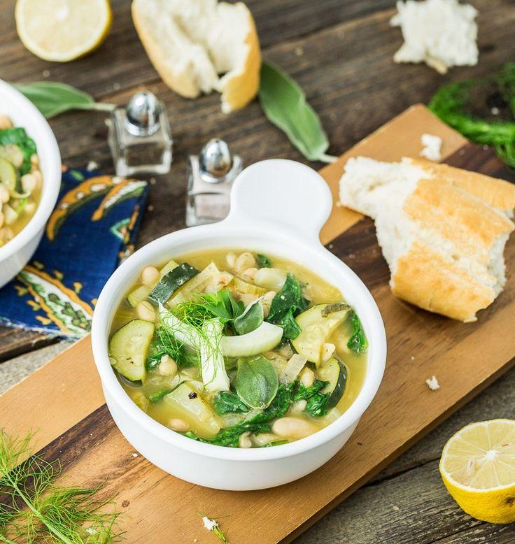 Zingy Italian White Bean Soup Recipe