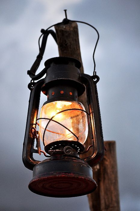 A lone storm lantern against the grey sky // Autumn nights // Myrskylyhty // Storm lantern