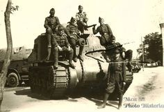 """Romanian soldiers posing on captured tank M3 """"Lee"""". April 1943. These tanks were supplied under lend-lease to the USSR, where a special love-not used - effect immodest dimensions of the tank, the placement of weapons, low permeability and low speed. What is interesting in this battle machine - the tank survived the war and were part of the Romanian armored units until 1949-the year, until it wore out. Spare parts Romanians were not found and he went under the write-off. Pin by Paolo Marzioli"""