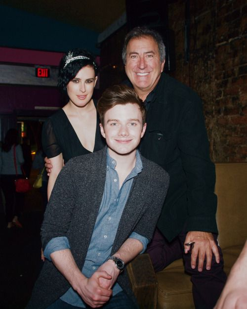 "Chris Colfer with the cast of ""For The Record: Dear John Hughes"""