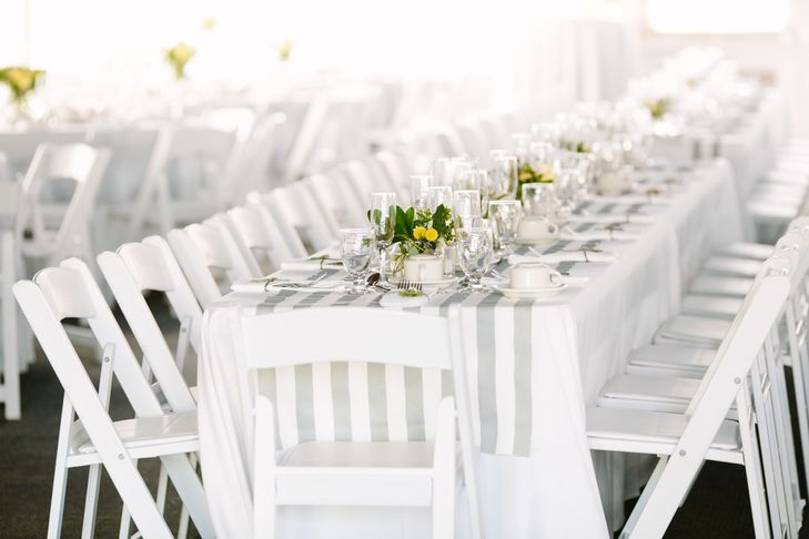 Gray and White Striped Table Linens | Love & Light Photography https://www.theknot.com/marketplace/love-and-light-photographs-little-silver-nj-611914