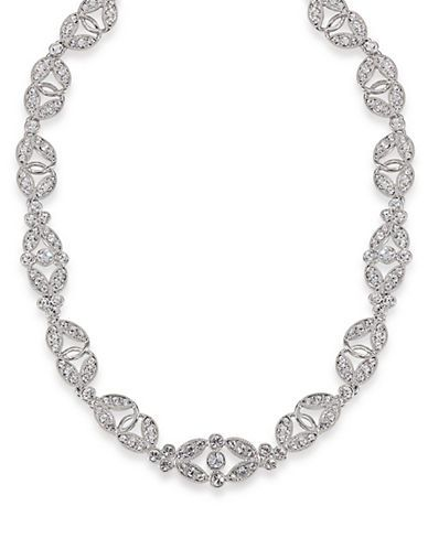 Carolee The Amber Crystal Choker Necklace Women's Silver