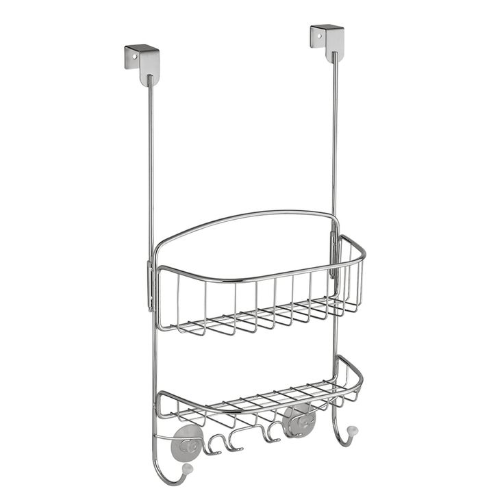interDesign 12-in H Over The Door Steel Hanging Shower Caddy