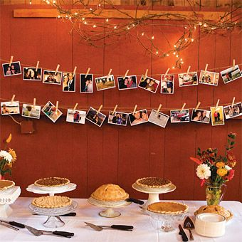 Dessert Table With Snapshots In Back